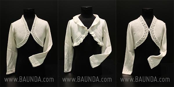 Chaquetas de comunion en blanco y marfil Baunda 2014
