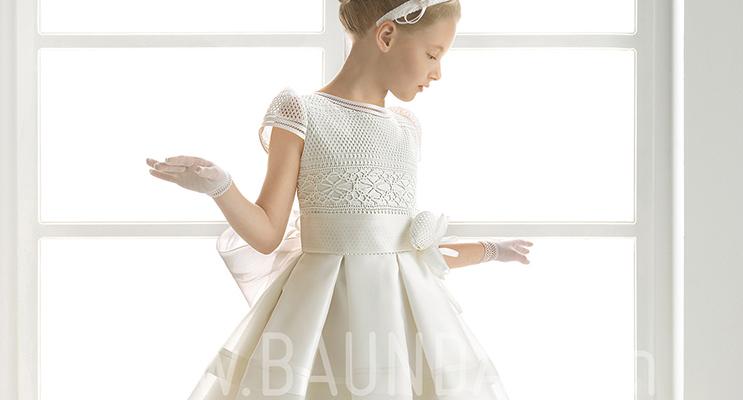 vestidos de primera comunion a crochet