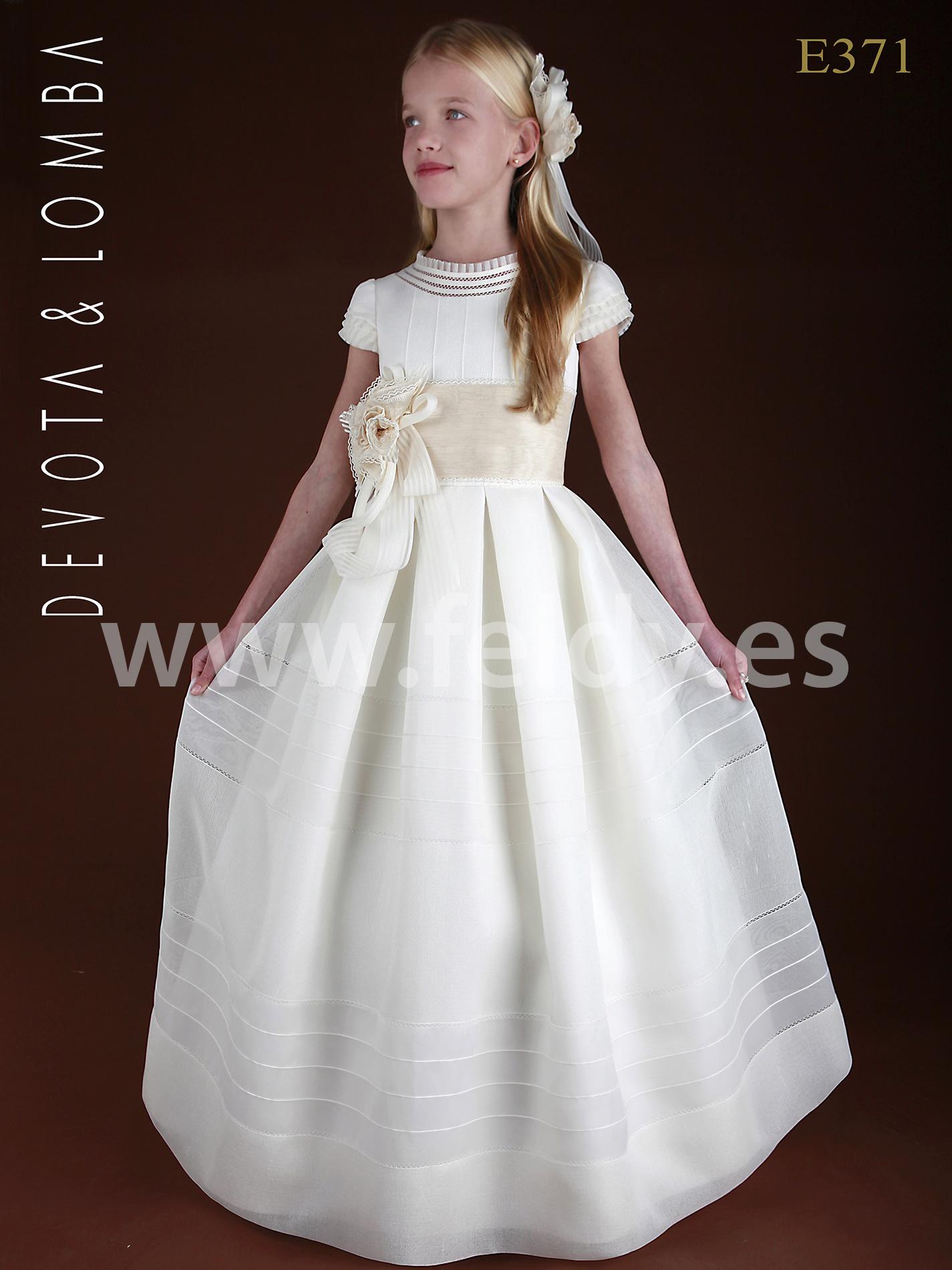 Vestido de comunion devota y lomba
