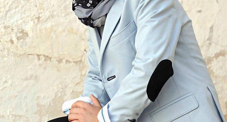 Traje de comunion 2016 Sport 1632 americana celeste y pantalon azul marino
