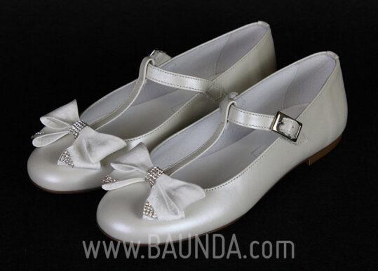 Zapatos de comunión con lazo 2017 Baunda 1701
