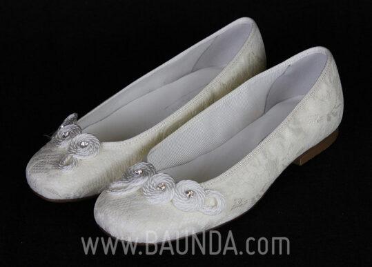 Zapatos de comunión de encaje 2017 baunda Z1703