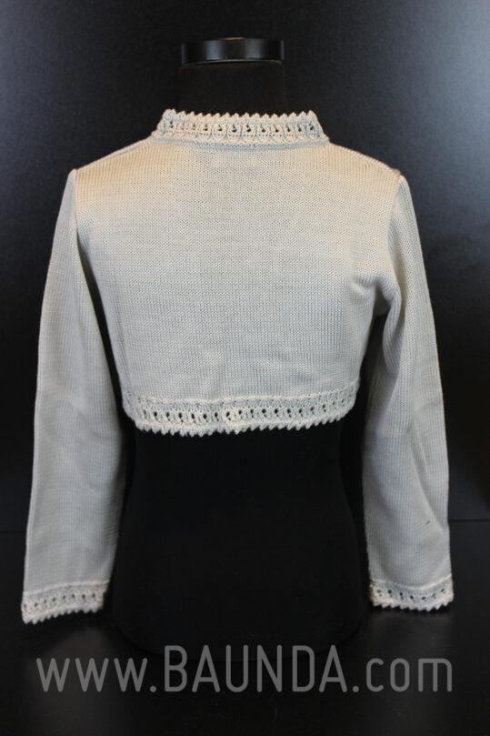 Espalda de la chaqueta de comunión de punto color gris modelo Baunda 2016 en Madrid