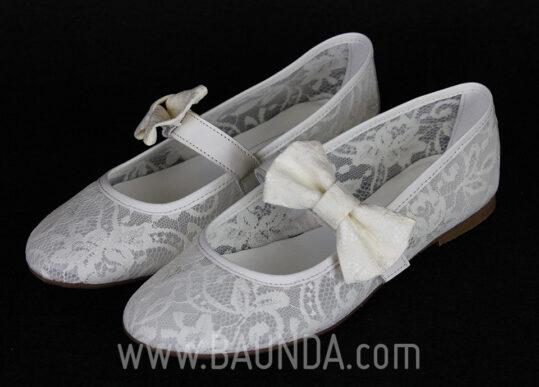 Zapatos de comunión encaje 2017 Baunda Z1711