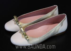 Zapatos de comunión dorado 2017 Baunda Z1717