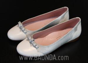 Zapatos de comunión plata 2017 Baunda Z1717