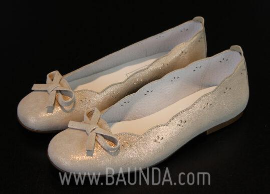 Zapatos de comunión con brillo 2017 Baunda Z1710