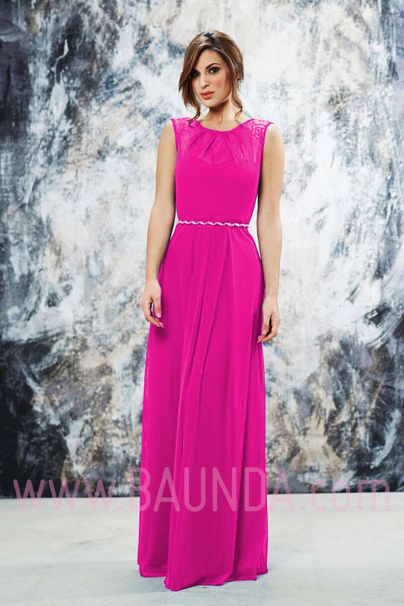 vestidos de fiesta color rosa fucsia