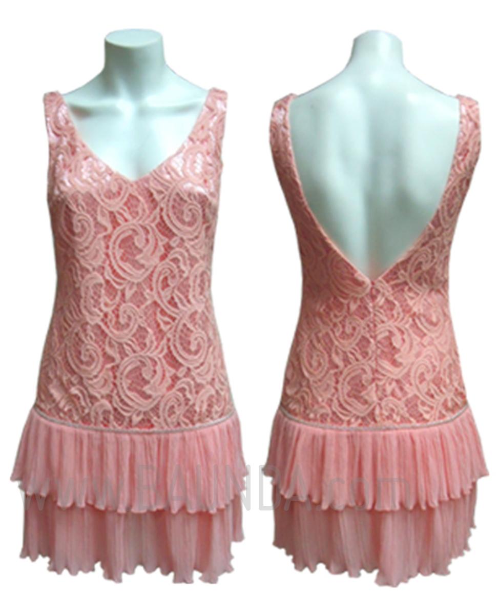 vestidos de fiesta cortos rosa palo