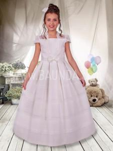 Vestido de comunión de organza 2017 Angela 419