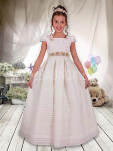 Vestido de comunión con cuello a la caja 2017 Angela 425