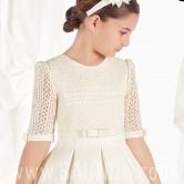 Vestido de comunión seda natural 2017 Carmy Deluxe TINA cuerpo