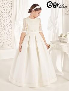 Vestido de comunión seda natural 2017 Carmy Deluxe TINA