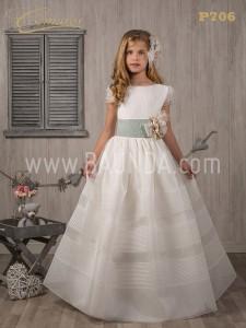 Vestido de comunión con jaretas Cemaros 2017 modelo P706