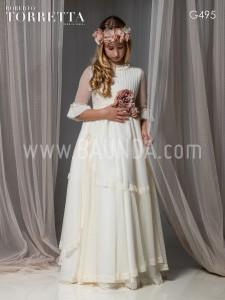 Vestido de comunión 2017 Roberto Torretta G495