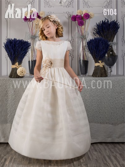 Vestido de comunión clásico 2017 Marla G104