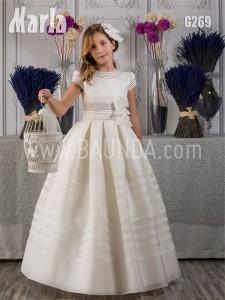 Vestido de comunión de seda Marla 2017 modelo G269