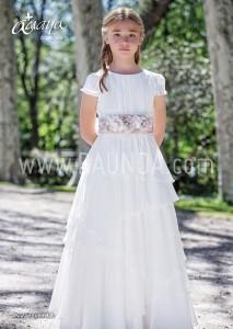 Vestido de comunión con falda de capas Amaya 2017 modelo 923