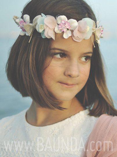 Corona de comunión azul y rosa 2017 Baunda 7103