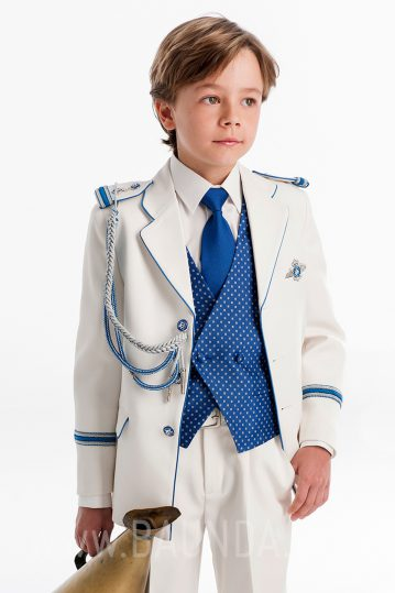 Traje de almirante con azul 2017 para comunión Varones 2051 en Baunda Madrid