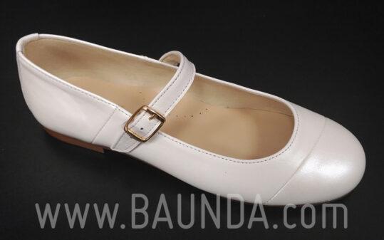 Zapatos de comunión marfil 2017 Baunda Z1714