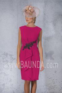 Vestido de fiesta corto berenjena 2017 Isabel Campos 1704