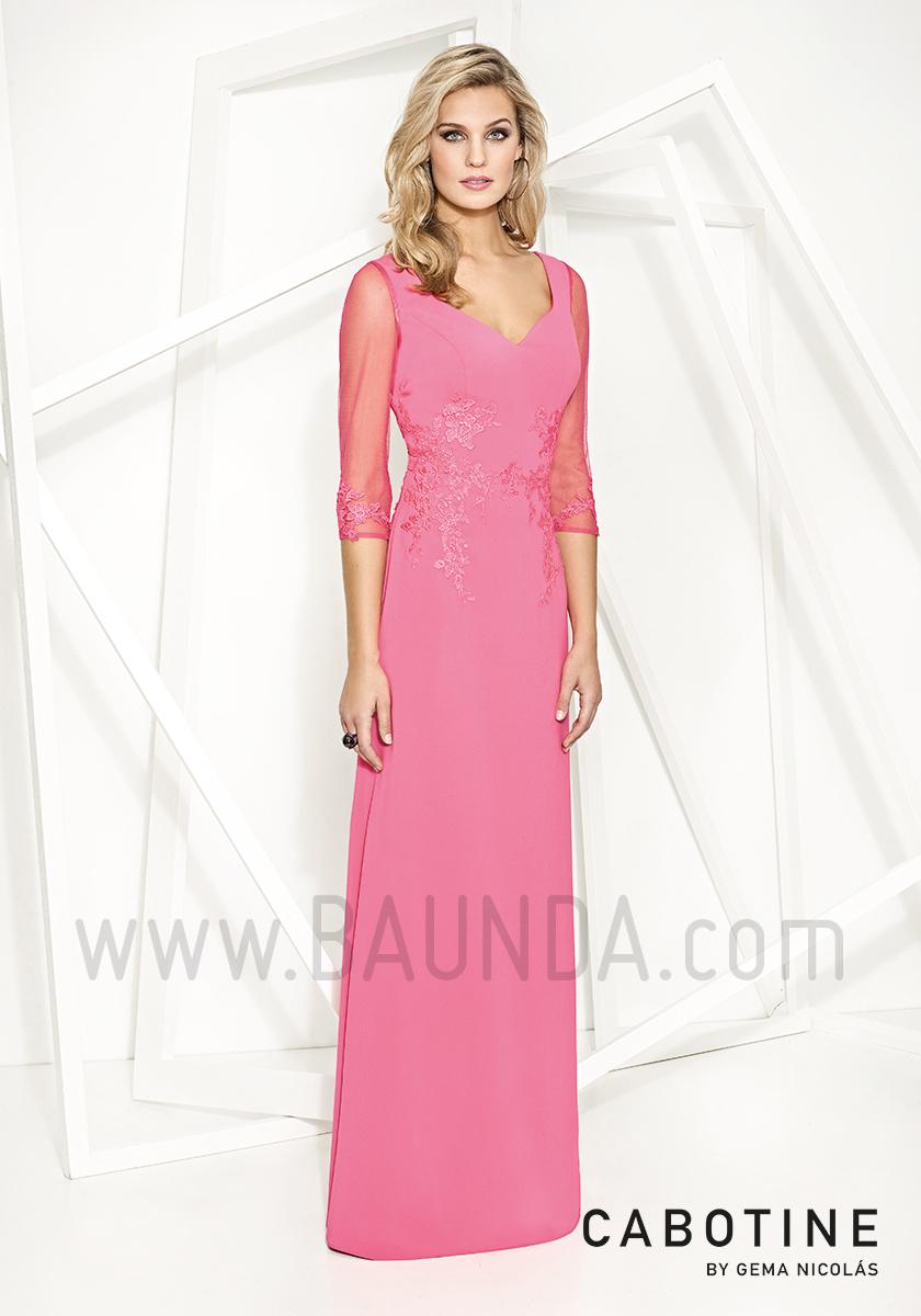 Baunda Vestido de fiesta Cabotine 2017 largo 7771 rosa en Madrid y ...