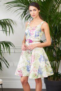 Vestido corto estampado 2017 Baunda 1708