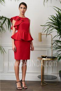 Vestido de fiesta corto rojo 2017 Baunda 1710