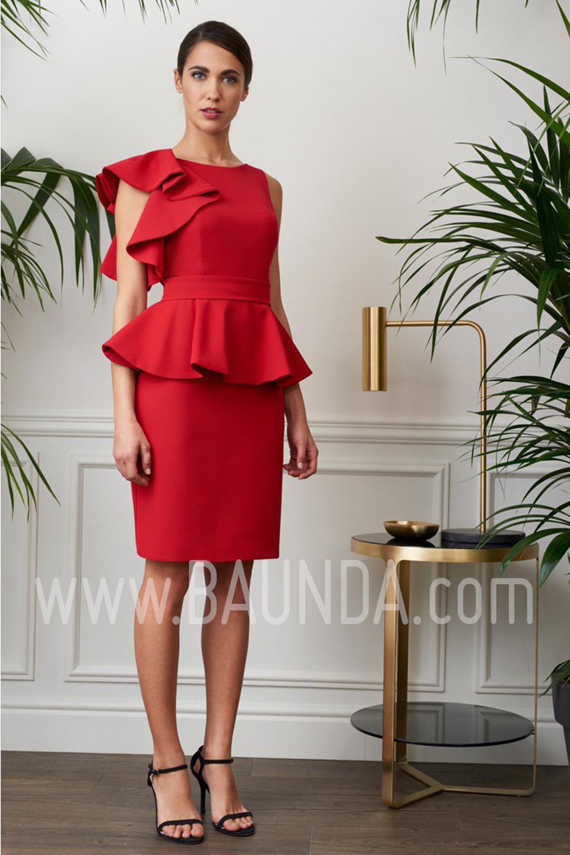 Vestido de fiesta corto 2017 Baunda 1710