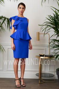 Vestido de fiesta corto azulón 2017 Baunda 1711