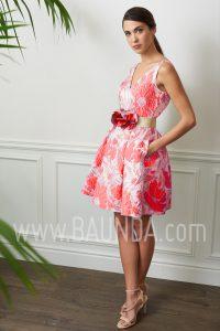 Vestido corto para boda 2017 Baunda 1712