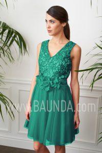 Vestido de coctel verde 2017 Baunda 1714