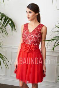Vestido de coctel rojo 2017 Baunda 1715