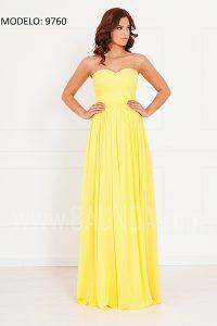 Vestido de fiesta amarillo xm 9760 largo