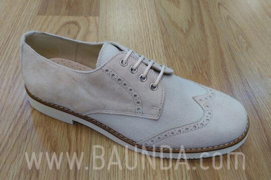 Zapatos de comunión beige 2018 Baunda Z1860