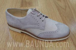 Zapatos de comunión grises 2018 Baunda Z1859