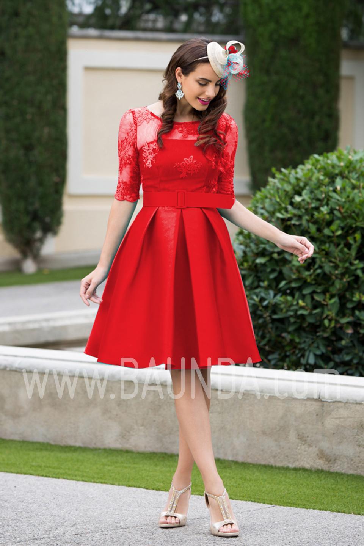a443cdfa6f292 Baunda Vestido madre de comunión 2017 Baunda 1726 rojo en Madrid y ...