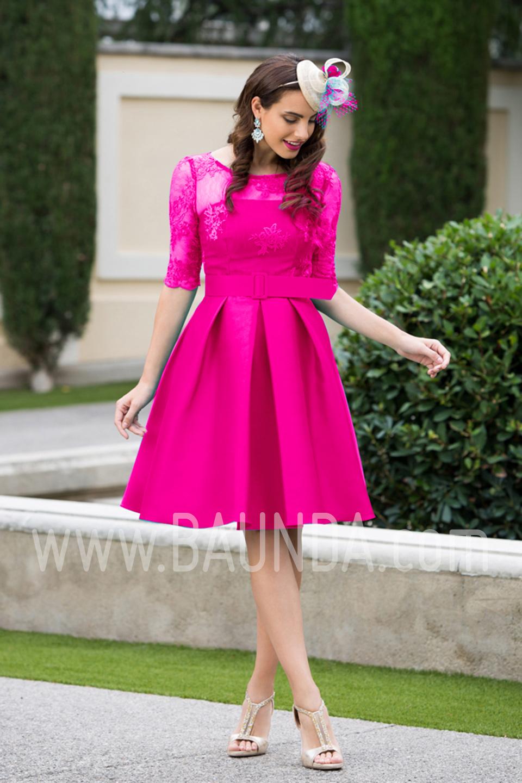 Vestidos cortos de fiesta fucsia – Moda Española moderna