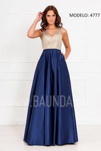Vestido hermana de la novia 2017 XM 4777 marino y dorado