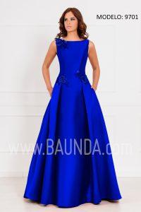 Vestido largo madre de la novia 2017 XM 9701 azulón