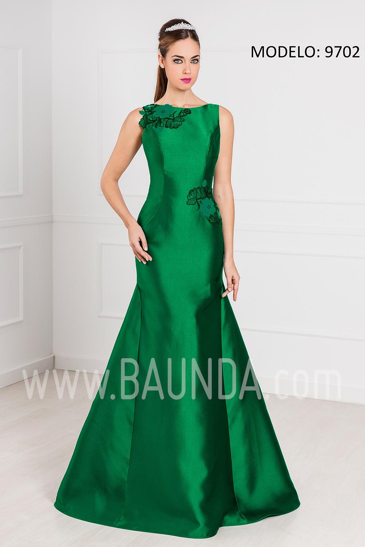 Baunda Vestido De Fiesta Largo 2017 Xm 9702 Verde Baunda