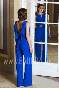 Mono para boda 2017 Baunda azulón espalda al aire