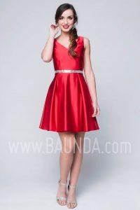 Vestido de fiesta corto rojo 2017 Baunda 1739