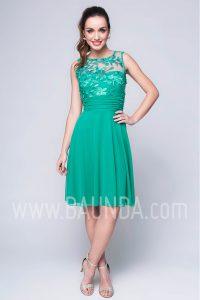 Vestido de fiesta corto verde 2017 Baunda 1740