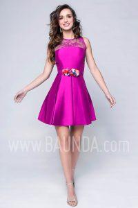 Vestido de fiesta corto morado 2017 Baunda 1743