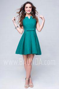 Vestido de invitada corto verde 2017 Baunda 1745