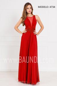 Vestido largo para invitada rojo 2017 XM 4734