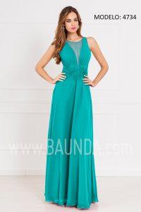 Vestido largo para invitada 2017 XM 4734 verde agua