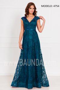 Vestido largo azul petróleo 2017 XM 4754